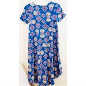 LuLaRoe | Blue Aztec Boho Printed T Shirt Dress